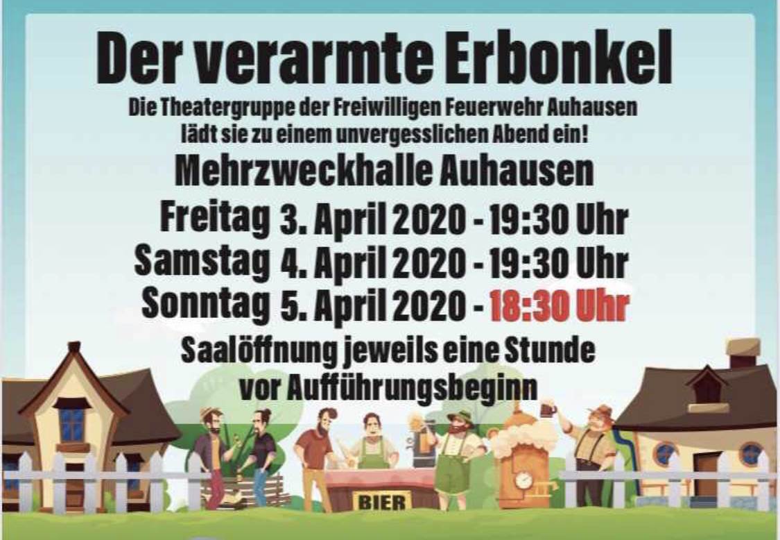 Flyer Theater Auhausen 2020