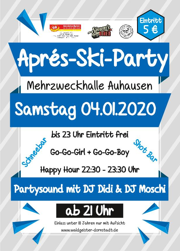 Waldgeister Dornstadt - Flyer Apres-Ski-Party